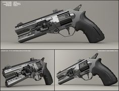 Jaw - concept of sci fi handgun by peterku on DeviantArt