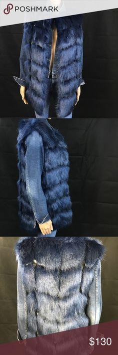 Faux Fur Vest With Leather Inserts Faux Fur Vest With Leather Inserts Jackets & Coats Vests