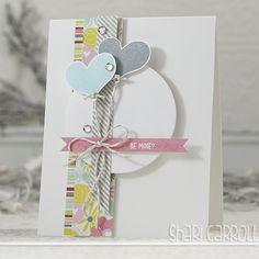 Shari Carroll: …my world –  Simon Says Stamp January card kit! - 12/26/13.  (Simon Says dies:  Large Hearts).  (Pin#1: Valentines: Dies/... Pin+: Balloons...).