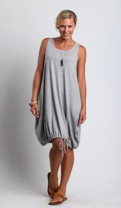 CHALET USA Bamboo Jersey ERIN DRESS Drawstring Hem Tunic XS S M L XL 2015 COLORS