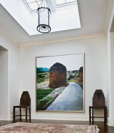 Painting in Neutral Contemporary Hall