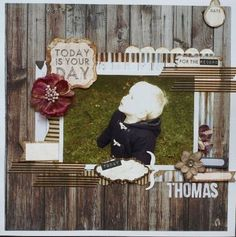 This rustic and adorable layout by Hilde Janbroers-Stolk used the Basecoat collection by KaiserCraft.