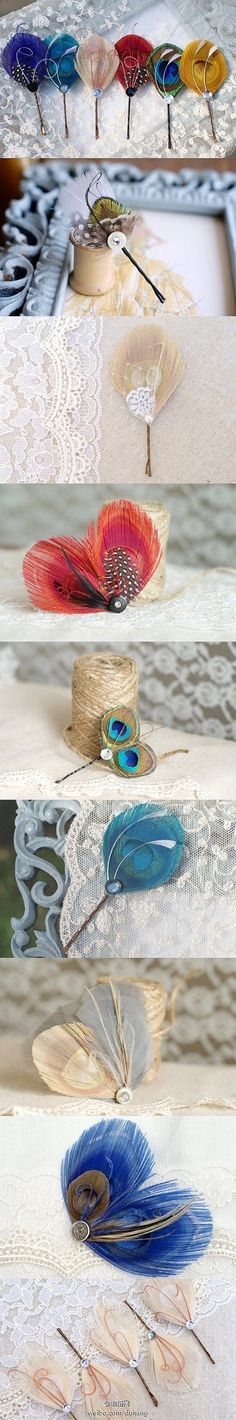 Hair Clips - Would be a cute way to add something extra to hair and clothes