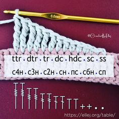 Learn how to crochet Straight Smooth Edges with Single Crochet and Half Double Crochet rows. Check it out - Salvabrani Crochet Diy, Puff Stitch Crochet, Crochet Motifs, Crochet Diagram, Crochet Stitches Patterns, Tunisian Crochet, Crochet Chart, Crochet Basics, Crochet Designs