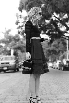chic | black skirt + crop top