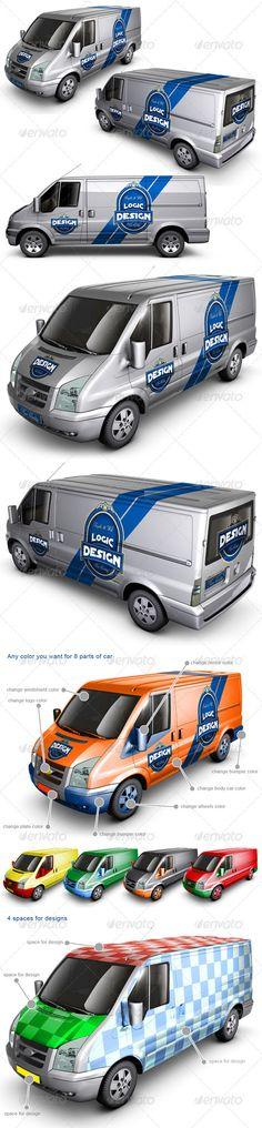 Van Car Mock Up Download here: https://graphicriver.net/item/van-car-mock-up/2003023?ref=KlitVogli