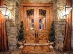 Craftsman Front Door with Pathway, Glass panel door