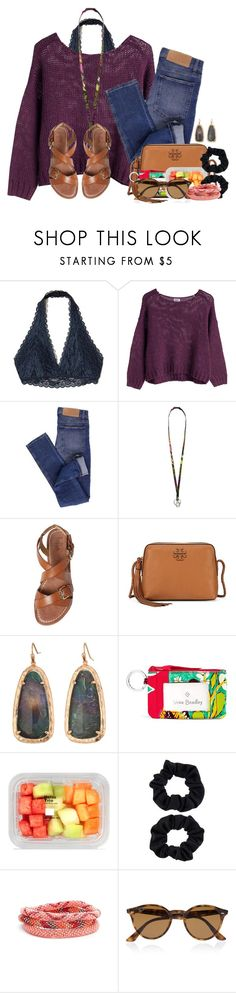 """""""Please everyone read the D this is important"""" by flroasburn ❤ liked on Polyvore featuring Hollister Co., Cheap Monday, Vera Bradley, belle by Sigerson Morrison, Tory Burch, Kendra Scott, Accessorize, Aid Through Trade and Ray-Ban"""