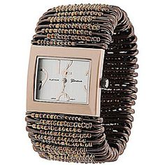@Overstock - This unique and stylish watch features beaded safety pins on a stretch band.http://www.overstock.com/Jewelry-Watches/Geneva-Womens-Platinum-Safety-Pin-Stretch-Watch/5535664/product.html?CID=214117 $21.49