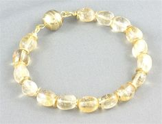 Citrine gemstone bracelet