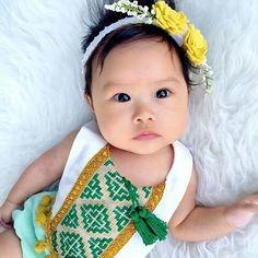 Mint Green Baby Girl Romper/ Linen Boho Chic by VivaBohoKids