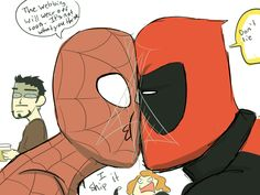 Why do these two keep getting shipped!?!?! Deadpool is to good for Spider-Man!