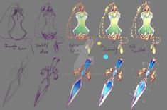 How I drew - Perfume Bottle and Dagger by rika-dono on DeviantArt