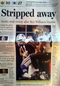 Front Page of the Dallas Morning News on Nov. 26, 2010