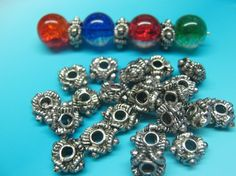 25 HEAVY Tibetan Silver Detailed CENTURY by YourNeedIsOurBeads, $3.25
