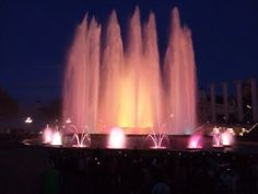 Pyrotechnical show in Barcelona. The most beautiful fountain than ever!