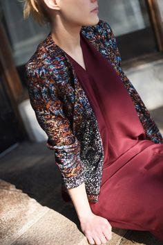 CRUBA KIMO JACKET Berlin, Circular Pattern, Jackets Online, Textile Patterns, Slow Fashion, How To Make, How To Wear, Blazer, Coat