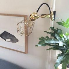 Work Lamp de Lux, messing – Hey There Hi – Kjøp møbler online på Clamp Lamp, Work Lamp, Interior Inspiration, Sconces, Wall Lights, House Design, House Styles, Home Decor, Google