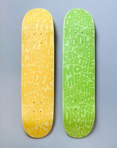 Nursery Rhyme skateboard deck designed by Katie Tully