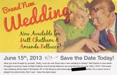 Couple Gets Super Creative With Their Wedding Save The Date Cards - Ned Hardy