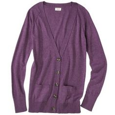Mossimo Supply Co. Juniors Long Sleeve V Neck Boyfriend Cardigan - Assorted Colors