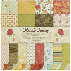 Floral Fancy Paper Pad - 6 X 6 Inches | Card Making Supplies at The Works