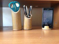 Bamboo pen holder di FerruccilLightSystem su Etsy, €10.00