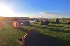 Un bivouac lors d'un voyage en Mongolie - http://www.absolu-voyages.com/mongolie.htm