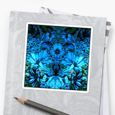 Days Blue to Night Stickers by Polka Dot Studio, a fun creative watercolor #flower garden #art mirrored into a dream of #blue #decorative stickers to embellish, whatever! Mix n Match onto #tech machines, #school books, sport helmets, #cards or personalized notes. Coordinating products make it a world of #accessorizing!