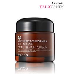 Mizon All-in-One Snail Repair Cream: A truly innovative and hydrating cream formulated with 92% snail extract. You heard right. This bestselling cream has sold by the millions across Asia for its high efficacy ingredients. The All-In-One Snail Repair Cream actively hydrates, fights wrinkles, and reduces acne scarring and blemishes for balanced and beautiful skin. Perfect for all skin types.