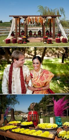 Eclectic pieces of decor combined with the traditional feel of an Indian wedding.