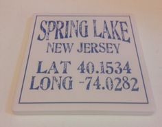 Check out this Spring Lake NJ coaster! We sell them for $4.95 ! Bring a little Jersey to your table!