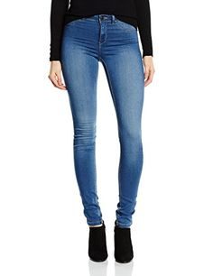 VERO MODA, Damen Skinny Hose Vmflex - it Nw Slim Jegging Mdb - Noos, Blau (Medium Blue Denim), 36 / L32 (Herstellergröße: S)