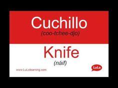 Cuchillo en Inglés = Knife in Spanish | Casa Bilingüe = Bilingual Home by LuLo - YouTube