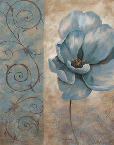 Fleur Bleue I Posters van Vivian Flasch bij AllPosters.nl