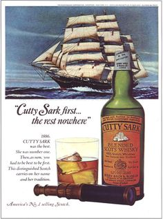 Ad Gallery | Cutty Sark Wave Boat, Grand Marais, Print Ads, Art Print, Scotch Whiskey, Distillery, Whisky, Berries, Color Art