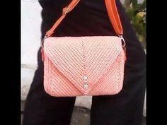 Crochet    how to make crochet bag    sc back loop only - YouTube