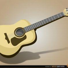 Realistische akoestische gitaar vector