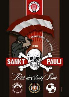FC Sankt Pauli | St Pauli | Ultras football, Skull und ...