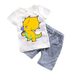 e230ed2ea70a Cartoon Animal Toddler boy clothing sets Summer 2017 New Baby Boys clothes  Spring Cotton Children clothing