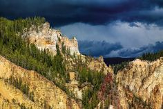 The harder the conflict, the more glorious the triumph. Thomas Paine  Storm Brewing -  #Yellowstone #NPS100 #storm