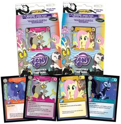 Equestria Daily: Absolute Discord Theme Deck info - Fluttershy, Discord, Luna, and Nightmare Moon Manes All My Little Pony, My Little Pony Pictures, My Little Pony Friendship, Fluttershy, Discord, Mlp, Nightmare Moon, My Little Pony Merchandise, Trading Card Database