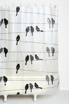 Birds On A Wire Shower Curtain #urbanoutfitters