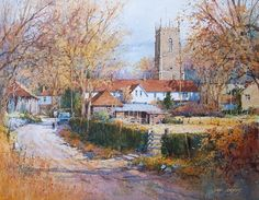 Watercolor - Cullompton, Devon, England by Ian Ramsay