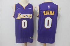 Men Kyle Kuzma Jersey Purple Los Angeles Lakers Fanatics Swingman