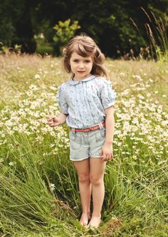 Peter Pan collared blouse and shorts