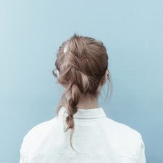 Messy ponytail rope twist braid