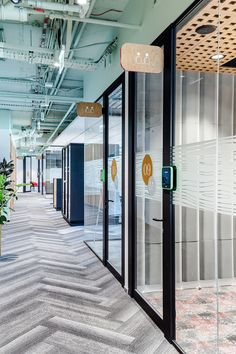 workplace solutions was engaged by real estate developer Ceetrus to design their offices located in Warsaw, Poland. An office like an elegant but cosy Corporate Office Design, Workplace Design, Office Interior Design, Office Interiors, Office Signage, Wayfinding Signage, Signage Design, Bureau Design, Office Girl