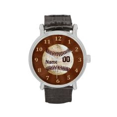 Cool Personalized Vintage Baseball Watches for Men.  Very Cool Baseball Gifts for Men and Boys. http://yoursportsgifts.com/CLICK-HERE-Vintage-Baseball-Gifts   A lot more Personalized Baseball Stuff:  http://yoursportsgifts.com/CLICK-HERE-Personalized-Baseball-Stuff Choose from several different styles of personalized watches for men and boys. Easy text box templates.