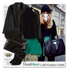 """""""Must Have - Cold weather outfit"""" by fashion-architect-style ❤ liked on Polyvore featuring Alexis Bittar, H&M, Mother of Pearl, Karen Millen, FOSSIL, Topshop, Phase 3, women's clothing, women and female"""